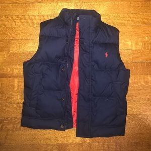 Polo by Ralph Lauren Blue Puffer Vest Size Small
